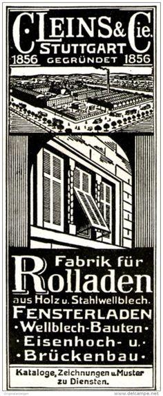 Original-Werbung /  Anzeige 1913 - ROLLADEN C. LEINS- STUTTGART - ca. 45 x 110 mm