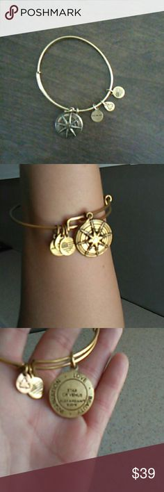 Authentic Alex & Ani charm bracelet Brand new.  Star of Venus, Inspiration, Love & Beauty charm....with 3 small charms Alex & Ani Jewelry Bracelets
