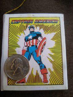 Captain America Christmas Tree Ornament mini book 1980   #BetterWythAge #marvelcomics #captainamerica