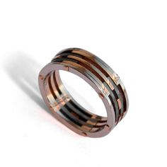 Gold Wedding Band Men's 18K Rose Gold and by DoronMeravWeddings