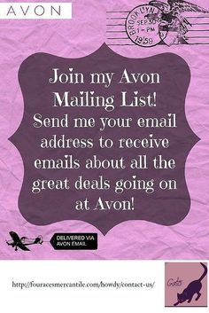 29 best Free Avon Printables images on Pinterest   Avon ideas  Avon     Join my Mailing List and stay  up to date Avon sales events and more via