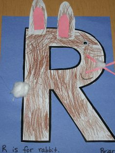 letter R for rabbit craft