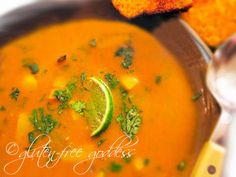 Mexican Pumpkin Soup!  Delicious!!! Add a splash of coconut milk to your bowl to cool it down and make a cream soup.