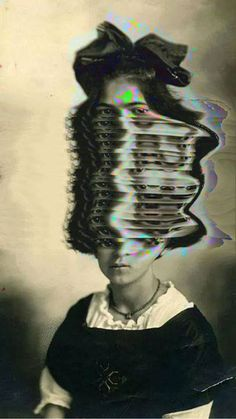 Glitch Artists Collective - Original: Frida, 1919, photographed by her father, Guillermo Kahlo
