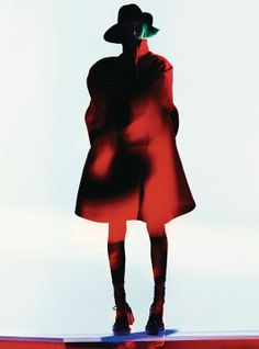 Milou van Groesen models coats in primary colours for a spread in the December '12 issue of Flair magazine shot by Benjamin Lennox, styled by Sissy Vian.