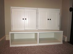 plans and tutorial for this storage unit from #Shanty2Chic, so many Pottery Barn furniture knock offs on this site!