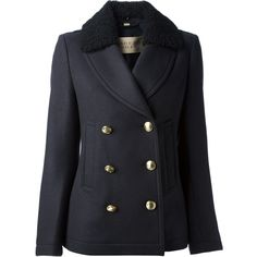 BURBERRY BRIT double breasted coat (£785) found on Polyvore
