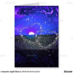 Create your own unique greeting on a Romantic card from Zazzle. From birthday, thank you, or funny cards, discover endless possibilities for the perfect card! Romantic Night, Valentine Day Cards, Greeting Cards, Humor, Blue, Art, Romantic Evening, Valentine Ecards, Art Background