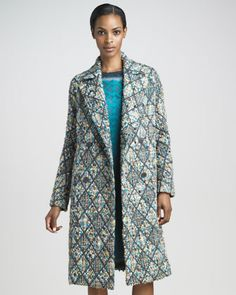 Double-Breasted Tweed Coat by Missoni at Bergdorf Goodman. $3290.00