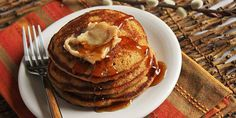 Gingerbread Pancakes with Maple Butter
