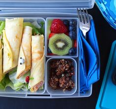 kids bento box lunch they will love Ham and Cheese Crepes for Lunch with Paleo…
