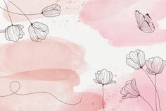 Download Powder Pastel With Hand Drawn Elements Background for free