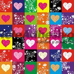 Resultado de imagen para papel decorativo de corazones de colores