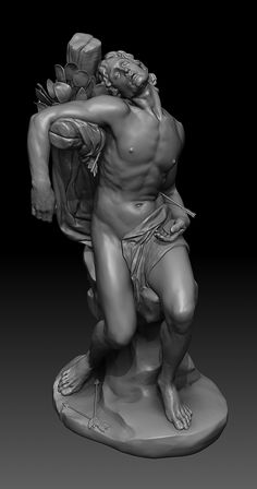 Study after Gian Lorenzo Bernini - St. Sebastian by Anand PG | Realistic | 3D | CGSociety