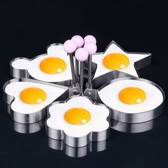 (5 pcs/set) Star Heart Shaper Fried Egg Mold Ring Cooking Tools Kitchen Gadgets Kitchen Stainless Steel Thick Cook Pancake Mold #Affiliate