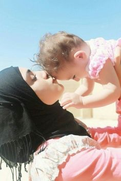 Muslim Mother and her Baby