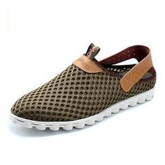 3684ee2c2be Big Size Mesh Breathable Slip On Flat Casual Sport Shoes For Men