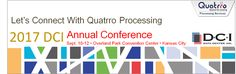 Quatrro Processing looks forward to see you at the DCI Conference 2017 for uniting payment ecosystem #FinTech #RegTech #event   #datacenterinc #quatrroprocessing #bankingtech  Visit: http://www.datacenterinc.com/ Our Annual Customer Conference is scheduled September 10-12, 2017, in Overland Park, Kan. Mark your calendars now, so you don't miss the seminars, free training...and fun!