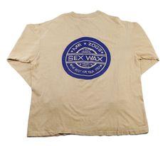 70's SEX WAX ポケット付き L/S Tシャツ 両面プリント 表記(XL)