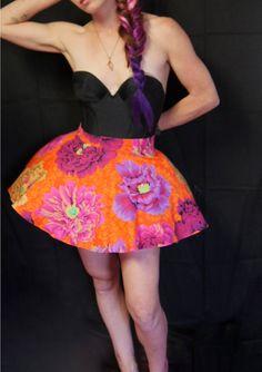 Light Up LED Rave Party Skirt Peony Power by MDMAtelier on Etsy