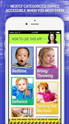 Download my Taming Tantrums app I've designed to be there when you need it. Gain instant access to phrases and tips that that encourage toddler cooperation. Think of it as a GPS for navigating those difficult moments in #parenting. In seconds, choose a category, like Bedtime, Biting/Throwing, Defiance, Getting Out the Door, Daily Jobs, Safety, Picky Eating, Tantrums, Transitions, Tidy Time, Potty Time or Whining, and then browse a host of suggestions to get things moving smoothly again.