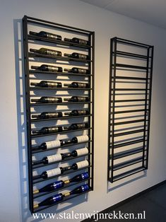 Wine Cellar Basement, Wine Cellar Racks, Wine Rack Wall, Wine Wall, Diy Kitchen Storage, Wine Storage, Wine Cellar Modern, Modern Wine Rack, Wine Rack Inspiration