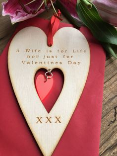 Valentines Heart  Wooden Valentines  Card  by LaserAnything