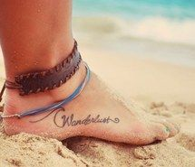 Inspiring image beach, beautiful, boho, bracelates, fashion, foot, friendship, girl, grunge, jewerly, nature, pretty, rasta, sand, surf, tattoo, vintage, waves, inspirational tatto, wave after wave #2273124 by LADY.D - Resolution 640x417px - Find the image to your taste