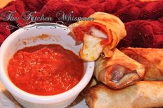 Baked Cheesestick Pepperoni EggRolls