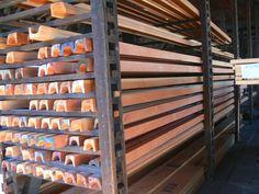 Wood gutters milled from Douglar Fir