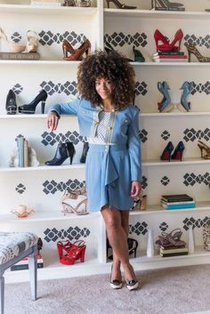 I want a walkin closet or a dressing room :) Ahhh that would make me really happy. Love the Wall of shoes :D