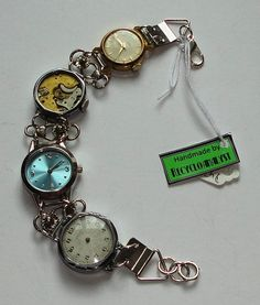 Steampunk Chic Recycled Vintage Watches With by Recycloanalyst, $38.00