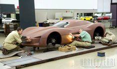 Corvette Stingray Concept clay model