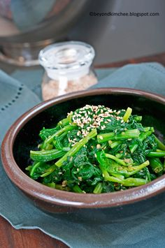 Beyond Kimchee: Korean spinach my way, Popeye! where are you?