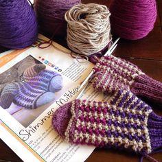 Working away on a pair of Shimmer Mittens for our purple loving middle child #littlenutmegproductions #meghanjoneslnmp #makersofinstagram #knittingpattern #knittersofig #knittingaddict #knits #knitted #knit #knits #knitlove #knittersoftheworld #knittersofinstagram #design #designer #knitdesign #knitdesigner #knitting_inspiration #knitspiration #knitstagram #knitmittens #premiumknit #purple #shimmermittens #knitsforkids #kidknits #berroco @berrocoyarn