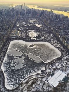 Winter in Central Park by vinfarrell