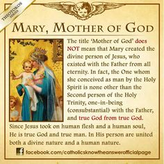 Mary, mother of God and what it means