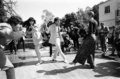 Ralph Crane—Time & Life Pictures/Getty ImagesNot published in LIFE. Twiggy, Sonny and Cher and others dance at a party in Beverly Hills, 1967