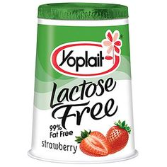 Lactose-free Yoplait Yogurt I love this yogurt!! It tastes AMAZING!!! Plus, I don't get sick from eating it.