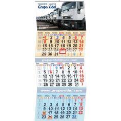 Calendario Faldilla Europea Trimestral Ref. 617