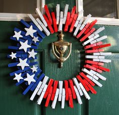 Fourth of July Wreath Wreaths Americana by GlitterGlassAndSass