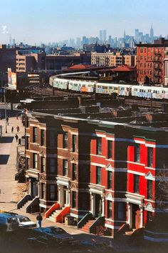 "mashkulture: "" Bronx and Manhattan skyline, 1975. """