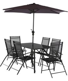 Lima 6 Seater Patio Furniture Dining Set Black At Argos Co Uk Your Online For Garden Table And Chair Sets Pinterest
