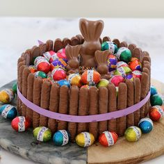 The ultimate cheats '15 Minute Chocolate Overload Easter Cake' looks stunning and tastes even better... talk about a show stopping Easter table centrepiece!