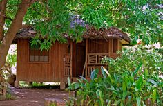 bahay kubo by azazelnephilim on DeviantArt Bamboo House Design, Small House Design, Small Cottage Designs, Bahay Kubo, Beautiful Small Homes, Bamboo Structure, House On Stilts, Small Cottages, Earth Homes