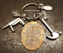 Shop our most popular Thank you for raising the man of my dreams collection by Southern Stamped Jewelry. They make the perfect gift! Mother In Law Gifts, Stamped Jewelry, The Man, Raising, Key Chain, Charms, Dreams