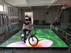 P6.25 outdoor LED dancing floor - LED dance floor - Visualpower creative led display nightclub design LED media facade stage rental led display