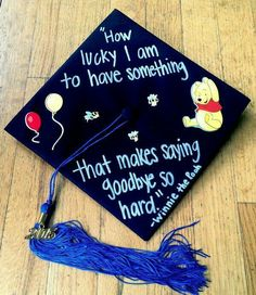 this cute graduation cap idea! Love this cute graduation cap idea!Love this cute graduation cap idea! Disney Graduation Cap, Funny Graduation Caps, Graduation Cap Toppers, Graduation Cap Designs, Graduation Cap Decoration, Graduation Diy, Graduation Quotes, Decorated Graduation Caps, Graduation Announcements