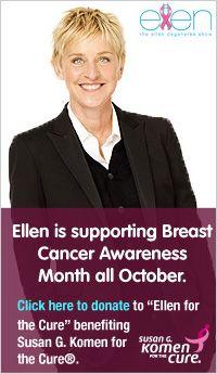 Ellen DeGeneres for the cure dunking celebrities for breast cancer awareness