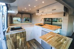 The Freedom Vans Chongo conversion brings the feel of home into a camper van interior. It supports digital nomads with solar power and cell boosting, packs a dual-block expandable kitchen, and supports other conveniences of at-home life.